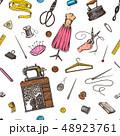 ソーイング ミシン掛け 縫のイラスト 48923761