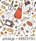 ソーイング ミシン掛け 縫のイラスト 48923791