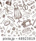 ソーイング ミシン掛け 縫のイラスト 48923819