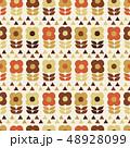 花 植物 パターンのイラスト 48928099