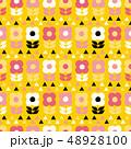 花 植物 パターンのイラスト 48928100