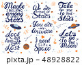 Lets go to the moon. Hand drawing lettering for a poster on the theme of space. 48928822