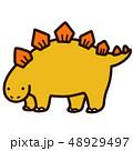 ステゴサウルス 恐竜 ジュラ紀のイラスト 48929497