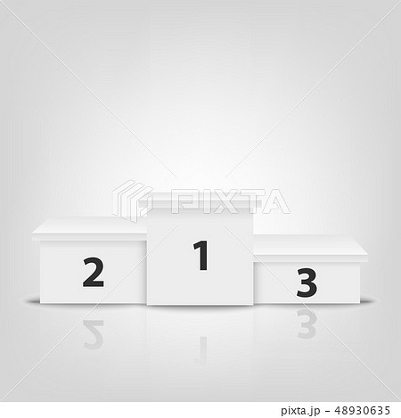 Realistic Vector 3d White Winners Podium Closeup Isolated on White Background. Victory, Award 48930635