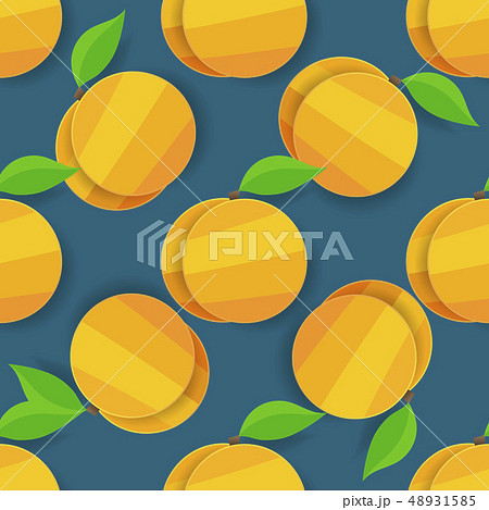 Vector Seamless Apricot Background For Your 48931585