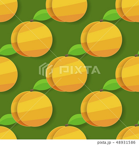 Vector Seamless Apricot Background For Your 48931586