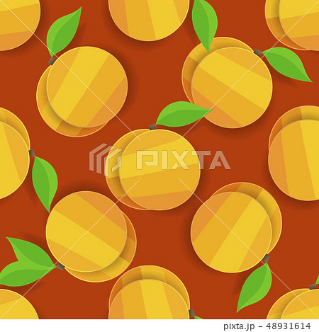 Vector Seamless Apricot Background For Your 48931614
