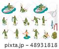 Fishermen Isometric Icons 48931818