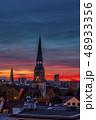 Kreuzkirche Church In Hanover on colorful sunset sky 48933356
