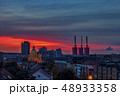 Hanover city skyline on colorful sunset sky 48933358