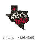テキサス テキサス州 バッジのイラスト 48934305