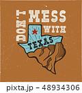 テキサス テキサス州 バッジのイラスト 48934306