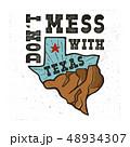 テキサス テキサス州 バッジのイラスト 48934307