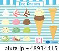 アイス アイスクリーム 冷菓のイラスト 48934415