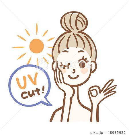 日焼け止め 女性 太陽 紫外線カット 48935922