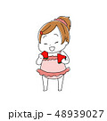 スイカを食べる女の子 48939027