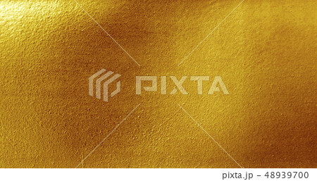 Shiny yellow leaf gold foil texture 48939700