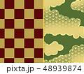 和風 和柄 和風背景 和柄素材 日本 和 和模様 市松模様 フレーム 枠 48939874