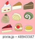 ケーキ スイーツ デザートのイラスト 48943387