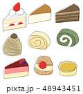 ケーキ スイーツ デザートのイラスト 48943451