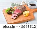ローストビーフ、肉料理、手作り。国産交雑牛の牛モモ肉ブロックを使ったローストビーフです。 48946612