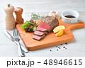 ローストビーフ、肉料理、手作り。国産交雑牛の牛モモ肉ブロックを使ったローストビーフです。 48946615