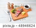 ローストビーフ、肉料理、手作り。国産交雑牛の牛モモ肉ブロックを使ったローストビーフです。 48946624