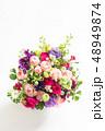 フラワーアレンジメント 花束 パンジーの写真 48949874