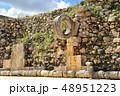 ウシュマル遺跡 球技場の石の輪(メキシコ) 48951223