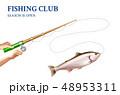 Trout Fishing Realistic Illustration   48953311