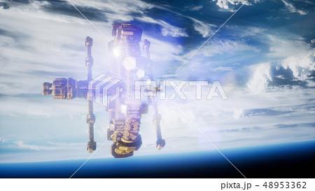 Highly detailed huge spaceship 48953362