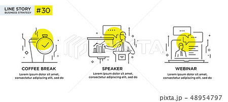Set of illustrations concept with business 48954797