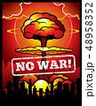 爆弾 爆発 破裂のイラスト 48958352