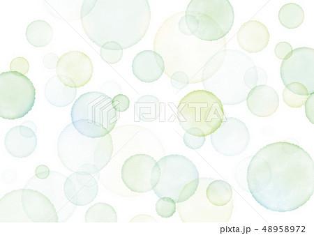 水彩 水玉 背景 テクスチャ にじみ 緑 48958972