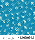 Seamless background of snowflakes with stripes. 48960648