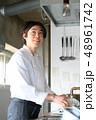キッチン 厨房 人物の写真 48961742
