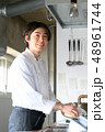 キッチン 厨房 人物の写真 48961744