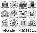 仮想通貨 デジタル テクノロジーのイラスト 48963911