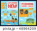 漁師 ベクトル 装置のイラスト 48964209