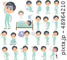 男性 患者 病気のイラスト 48964210