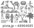 エジプト スケッチ 図案のイラスト 48964685