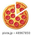 ピザ ピッツァ ファストフードのイラスト 48967850