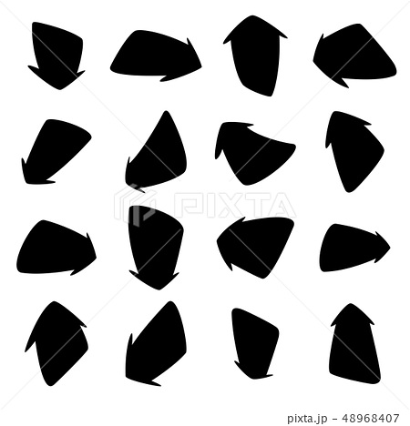 Set of hand-drawn arrows. Vector illustration on white background. 48968407