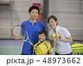 テニス コーチ 子供の写真 48973662