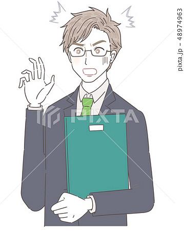 スーツ ビジネスマン 講師 若い男性 48974963