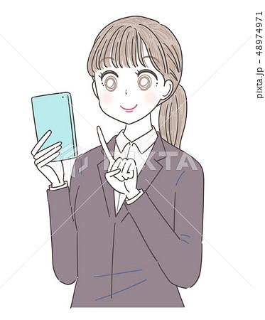 ビジネスウーマン 就活生 会社員 若い女性 48974971