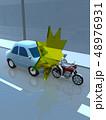 CG 3D イラスト デザイン 立体 車 バイク 交通 事故 トラブル 追突 道路 保険 事例 教本 48976931