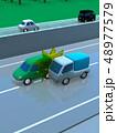 CG 3D イラスト デザイン 立体 車 自動車 交通 事故 トラブル 接触事故 道路 保険 事例 48977579