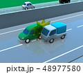 CG 3D イラスト デザイン 立体 車 自動車 交通 事故 トラブル 接触事故 道路 保険 事例 48977580