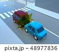 CG 3D イラスト デザイン 立体 車 自動車 交通 事故 トラブル 追突事故 道路 保険 事例 48977836